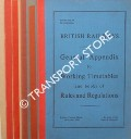 General Appendix to Working Timetable and books of Rules and Regulations - October 1960 by British Railways