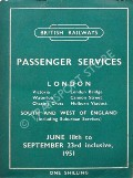 Passenger Train Services - London, South and West of England - June 18th to September 23rd inclusive, 1951 by British Railways Southern Region