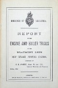 Report on the Engine and Boiler Trials of the Beaumont Leys New Sewage Pumping Station  by Borough of Leicester