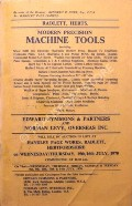 Modern Precision Machine Tools  by Edward Symmons & Partners