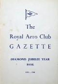 Book cover of The Royal Aero Club Gazette Diamond Jubilee Year Book 1901 - 1961 by BLAKE, J.H. (ed.)