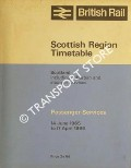 Passenger Services Timetable - Scotland including suburban and steamer services, 14 June 1965 to 17 April 1966 by British Rail Scottish Region